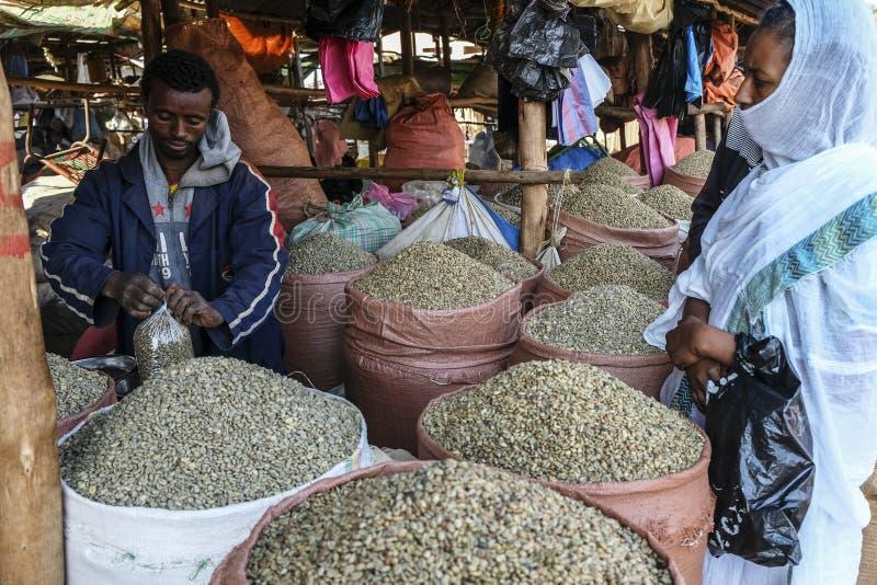 咖啡豆在巴赫达尔,埃塞俄比亚 免版税图库摄影