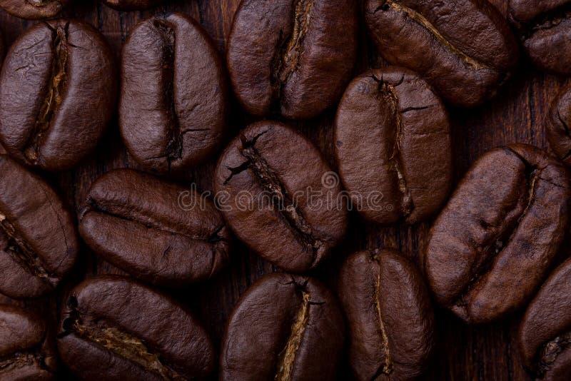 咖啡豆宏指令射击 免版税图库摄影