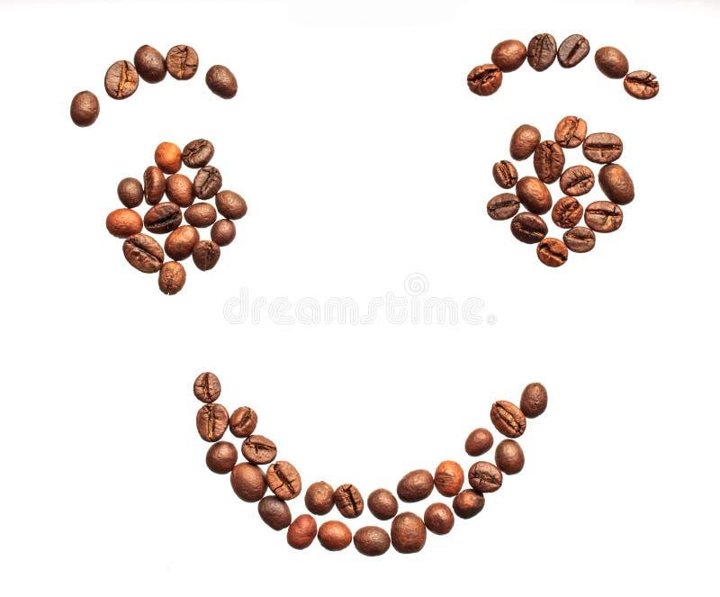 从咖啡豆的微笑 图库摄影