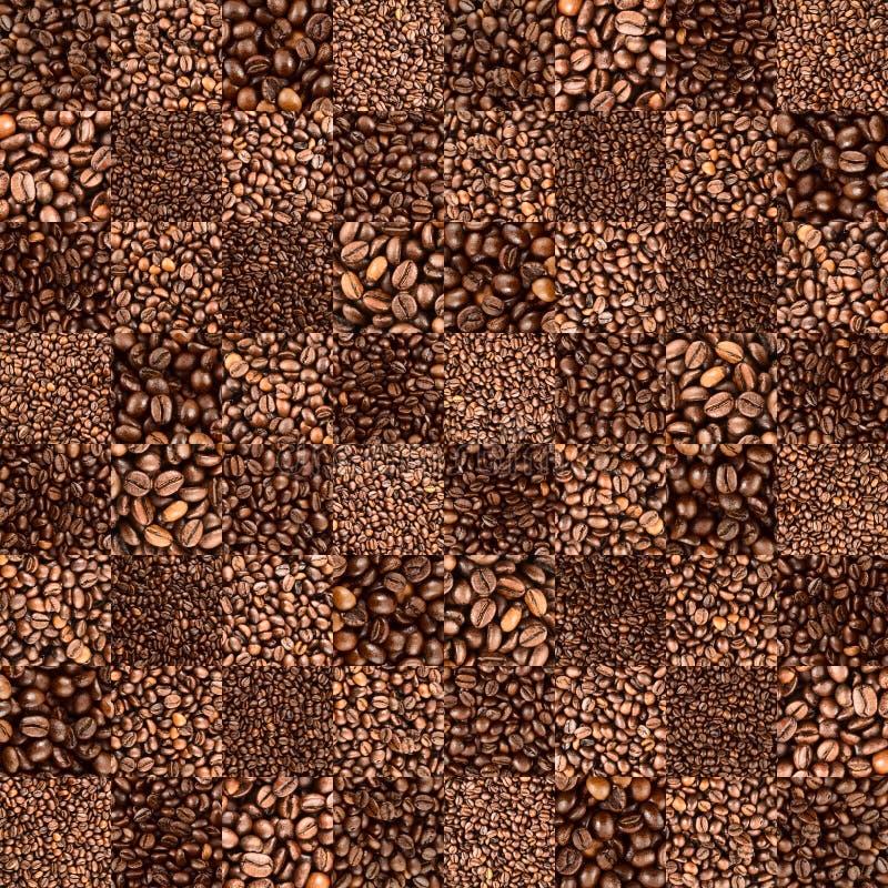 咖啡豆验查员铺磁砖了样式 免版税库存照片
