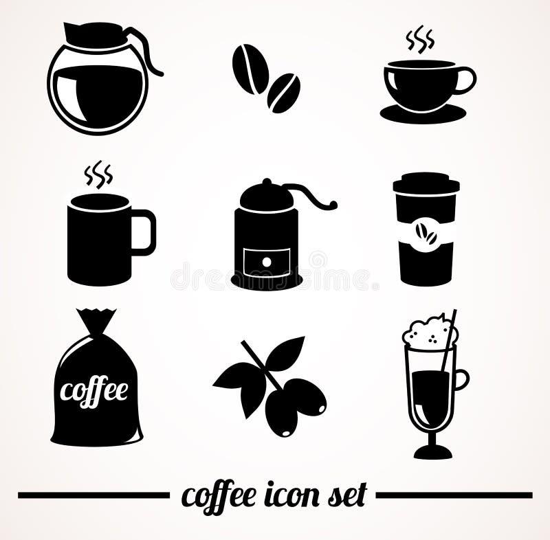 咖啡象集合 库存例证