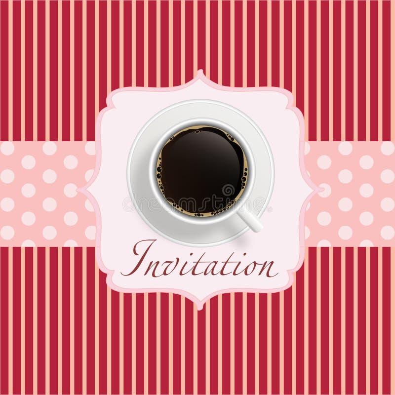 咖啡邀请背景 库存例证