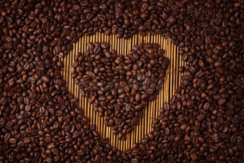 咖啡重点形状 图库摄影