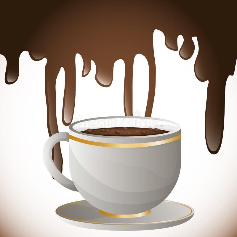 咖啡飞溅设计 皇族释放例证