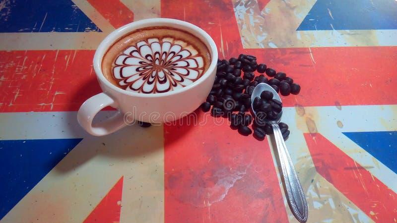 咖啡饮料查出的白色 库存照片