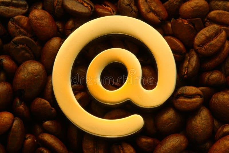 咖啡馆互联网 库存图片