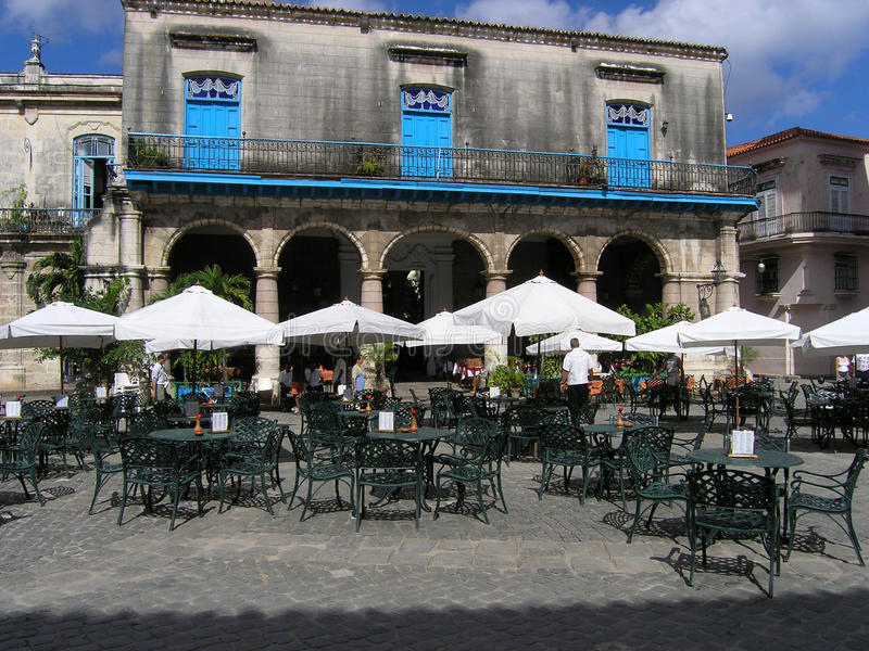 咖啡馆古巴 库存照片