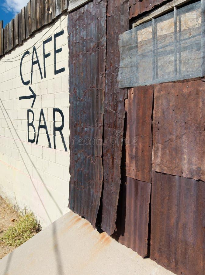 咖啡馆和酒吧,氯化物,亚利桑那 免版税库存图片