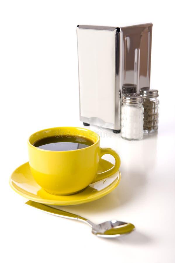 咖啡馆咖啡店桌面 免版税库存图片