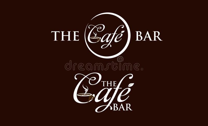 咖啡馆商标 库存例证