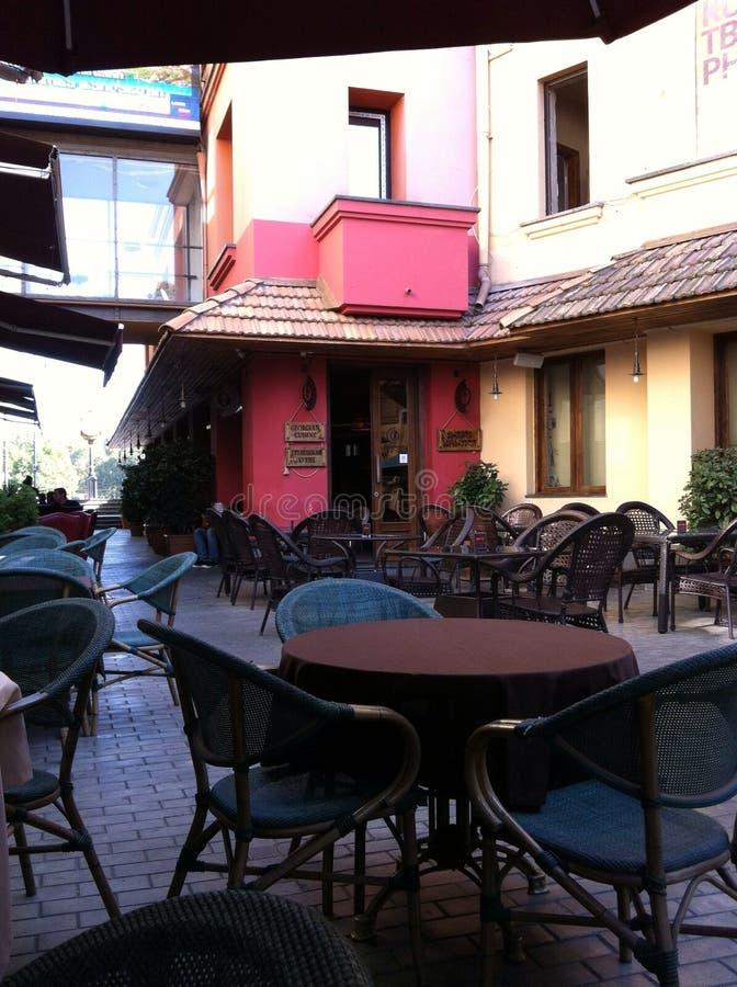 咖啡馆在第比利斯 免版税库存照片