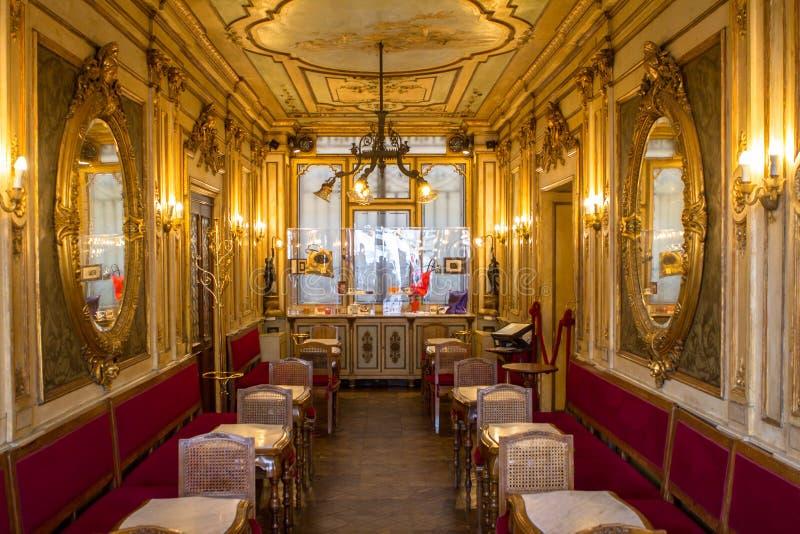 咖啡馆弗洛里安,威尼斯 免版税库存照片