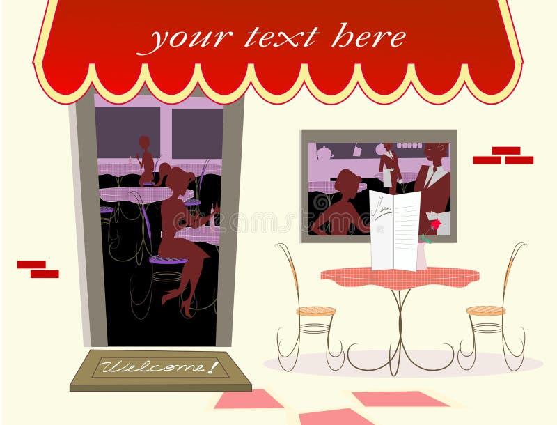 咖啡馆欢迎 图库摄影