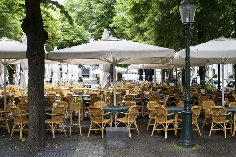 咖啡馆欧洲室外 免版税库存图片