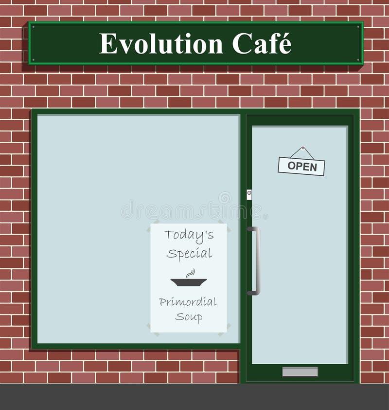 咖啡馆演变 向量例证
