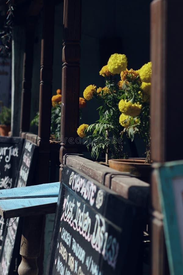咖啡馆界面 免版税库存图片