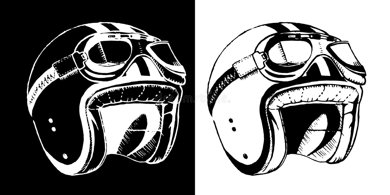 咖啡馆竟赛者印刷品T恤杉象征盔甲 向量例证