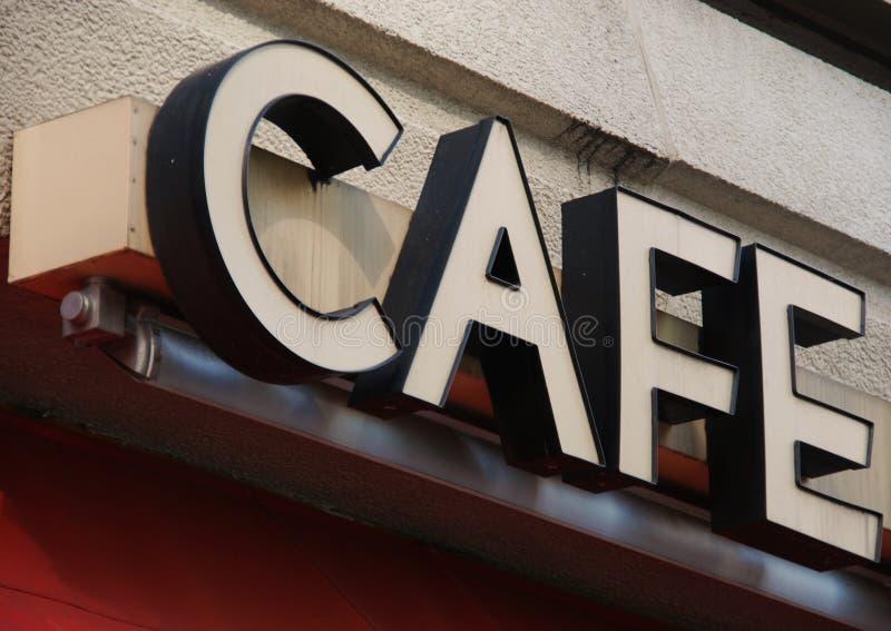咖啡馆符号 免版税库存图片