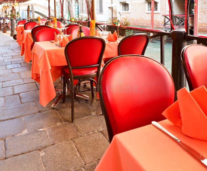 咖啡馆街道威尼斯 免版税库存照片
