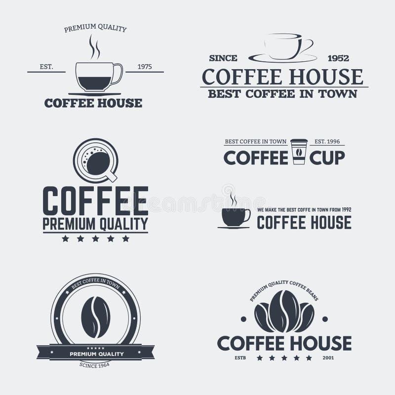 咖啡馆象征 向量例证
