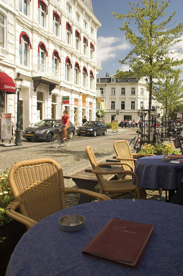 咖啡馆马斯特里赫特 库存图片