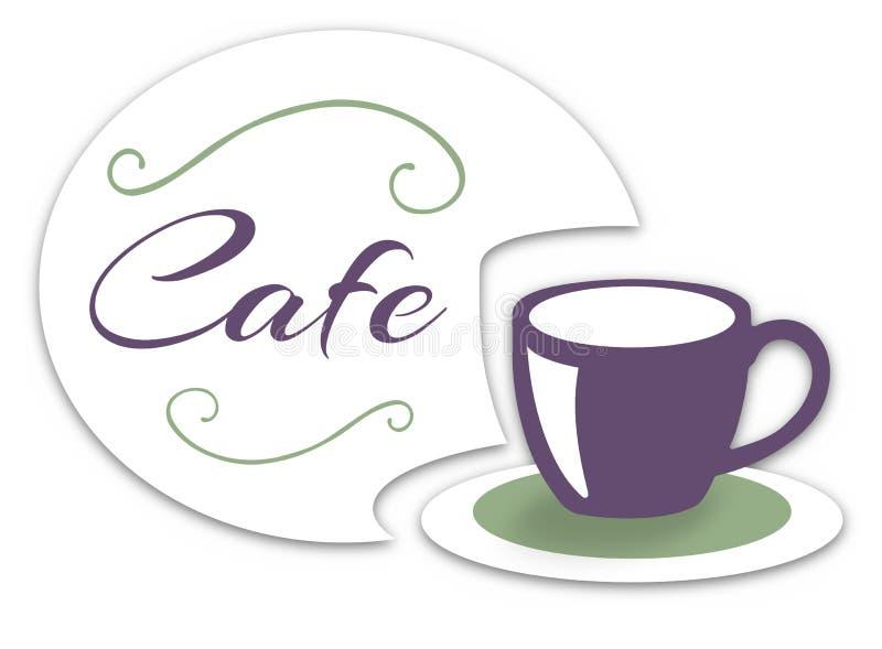 咖啡馆 向量例证