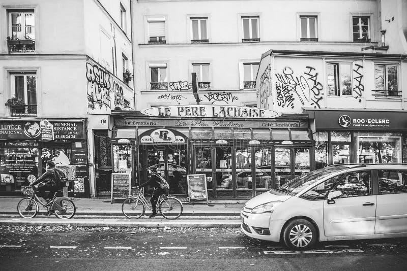 巴黎咖啡馆 免版税库存照片
