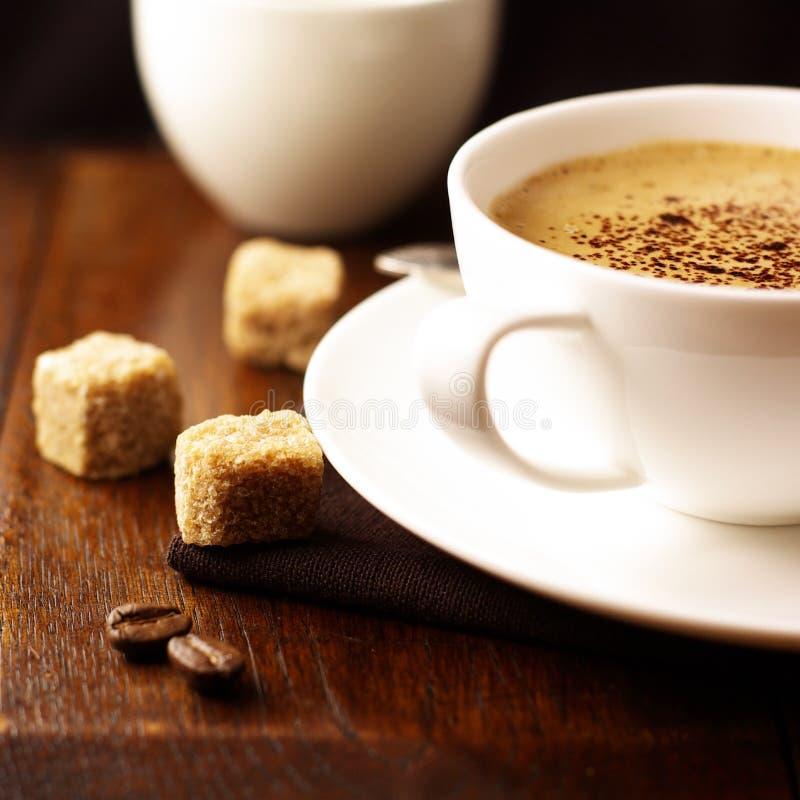 咖啡馆crema杯子 图库摄影