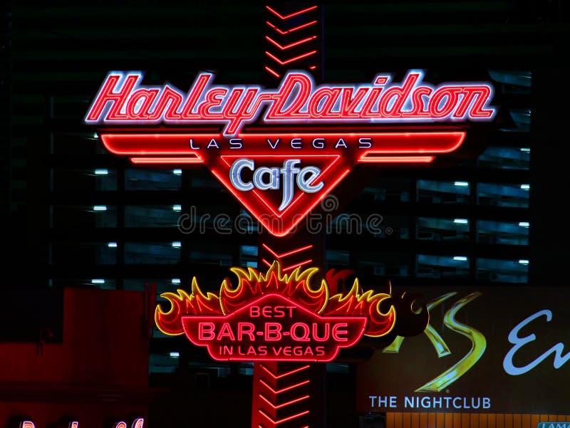 咖啡馆davidson harley拉斯维加斯 免版税库存图片