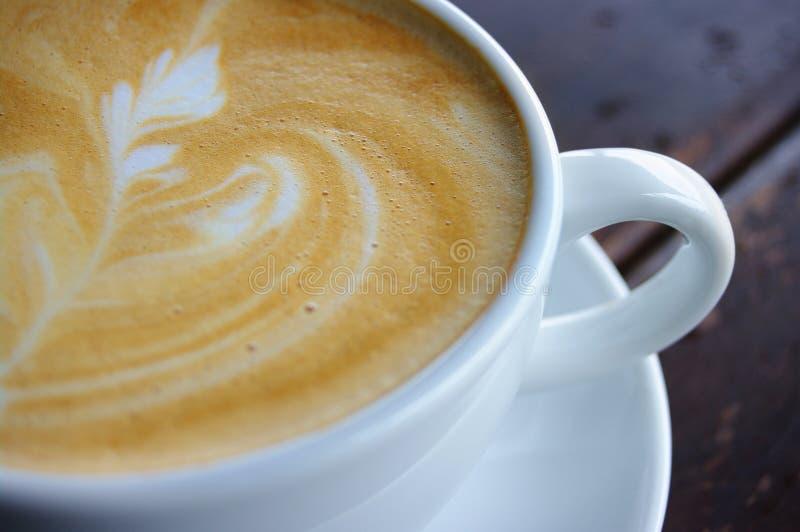 咖啡馆latte 免版税库存照片
