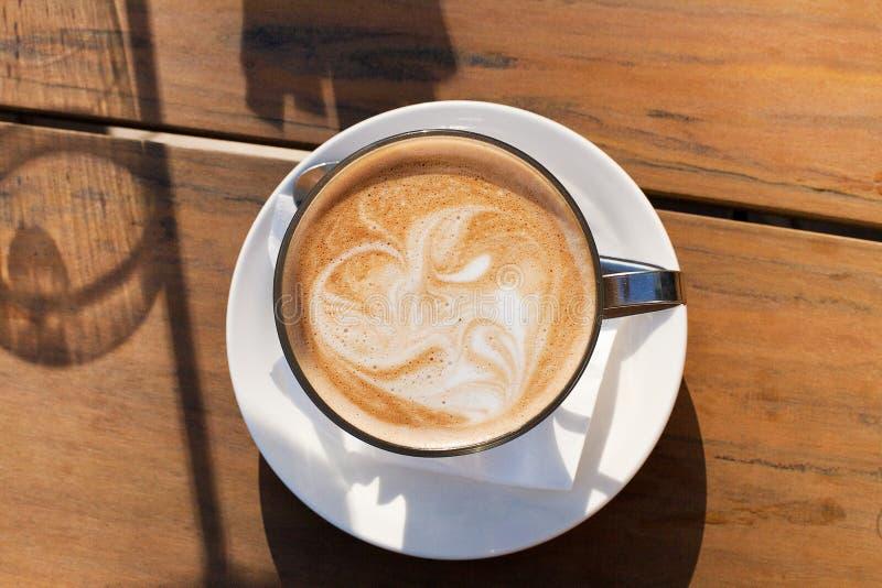 咖啡馆Latte 免版税图库摄影