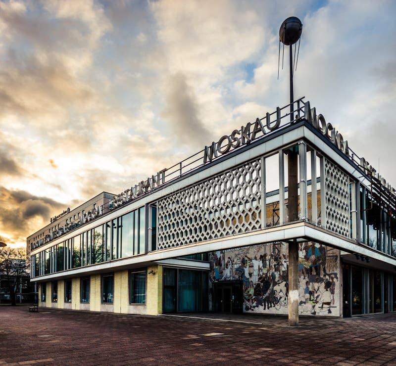 咖啡馆Moskau,柏林 免版税库存照片