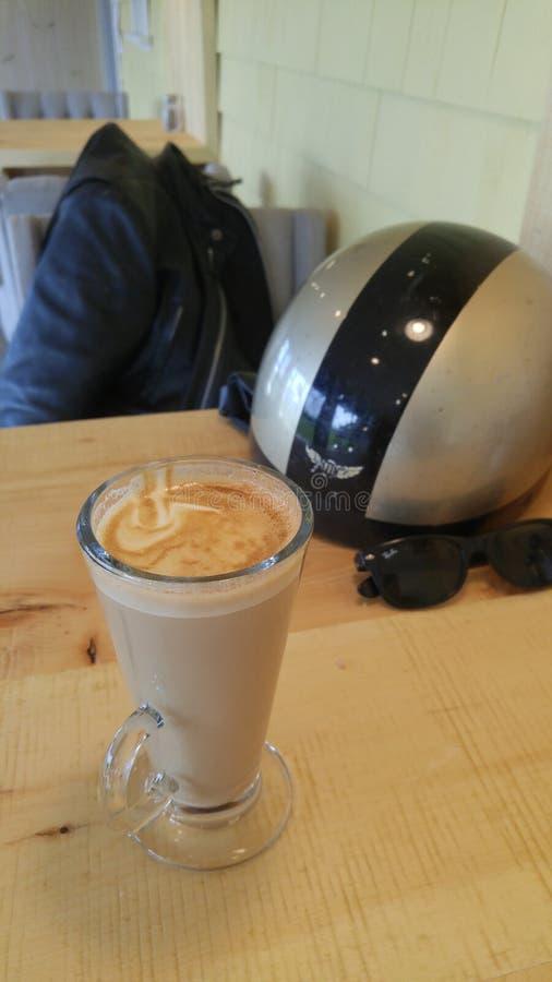 咖啡馆moto 图库摄影