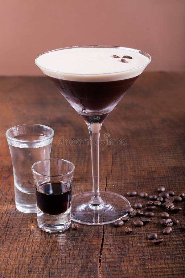 咖啡马蒂尼鸡尾酒鸡尾酒 免版税库存图片