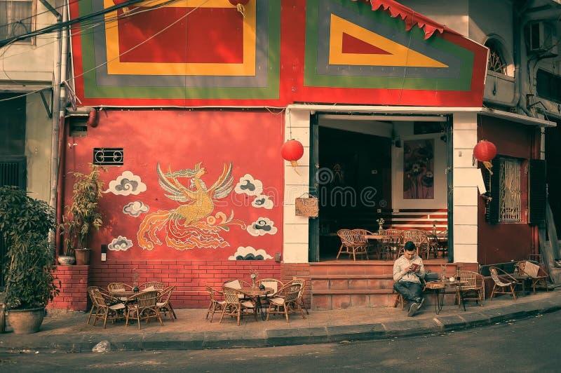 咖啡,传统,越南,生活,鸟,手工制造 库存照片