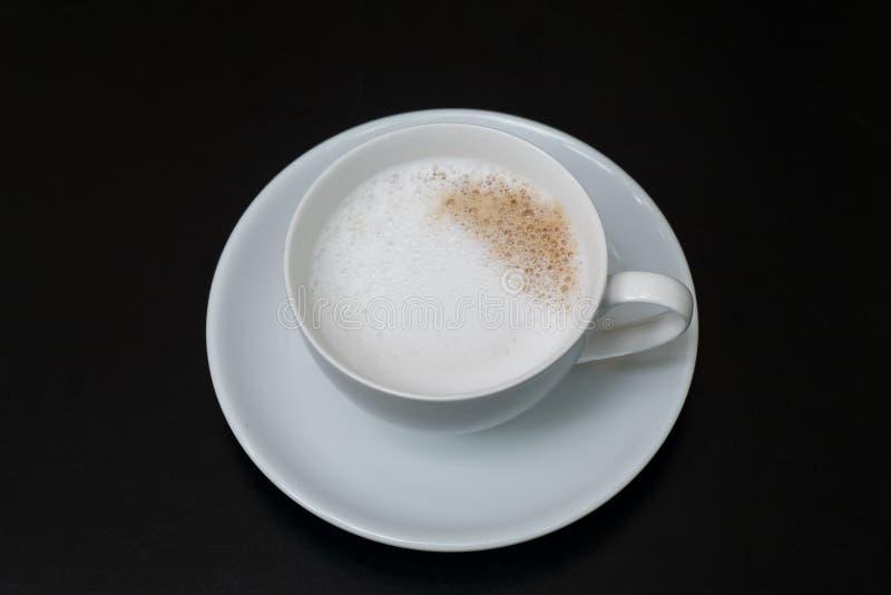 咖啡,杯子,桌,白色,黑色,浓咖啡,饮料,早餐,早晨,芳香, mu 免版税库存图片