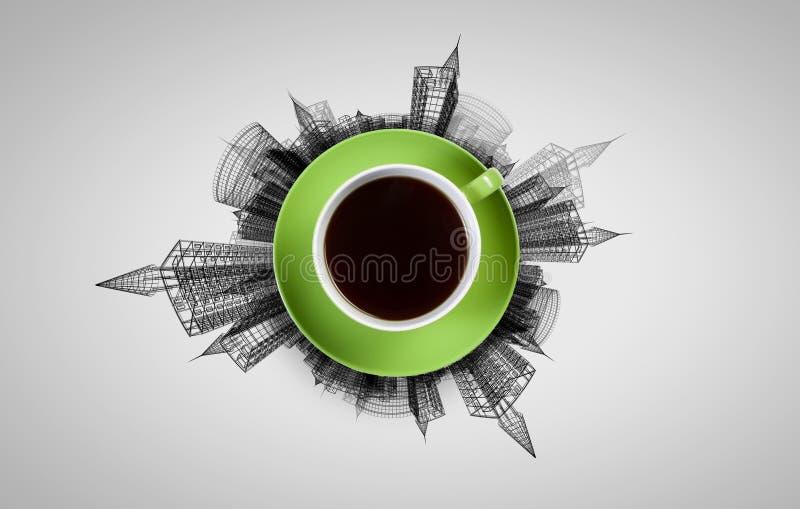 咖啡更多时间 向量例证