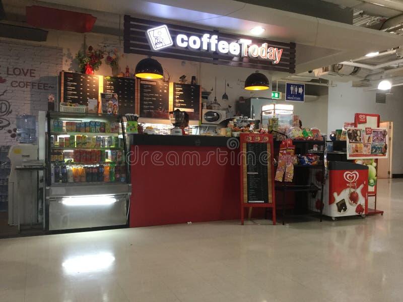 咖啡今天购物 免版税库存图片