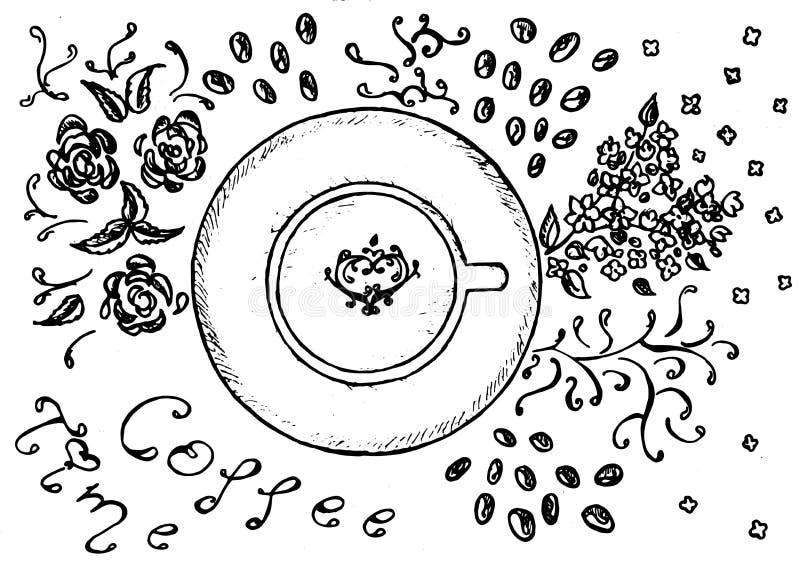 咖啡黑色 向量例证