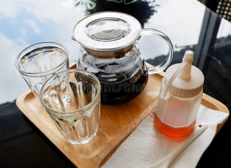 滴水咖啡黑色 图库摄影