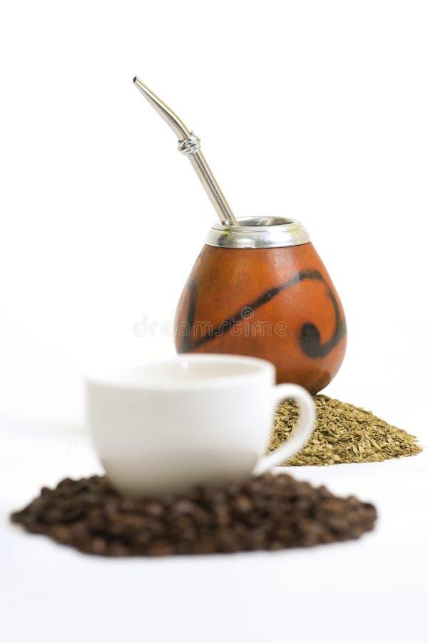 咖啡& yerba 库存照片