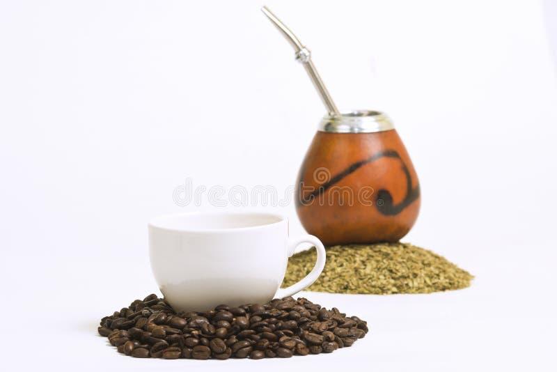 咖啡& yerba 库存图片