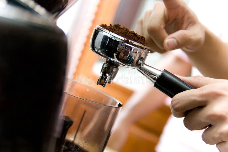 咖啡Barista 免版税库存照片