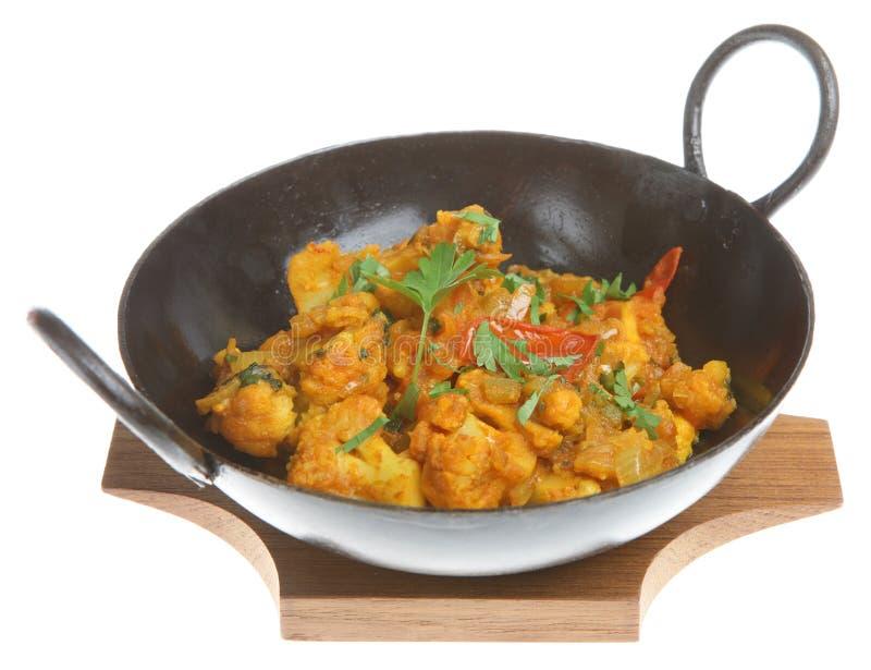 咖喱印地安人蔬菜 免版税库存图片