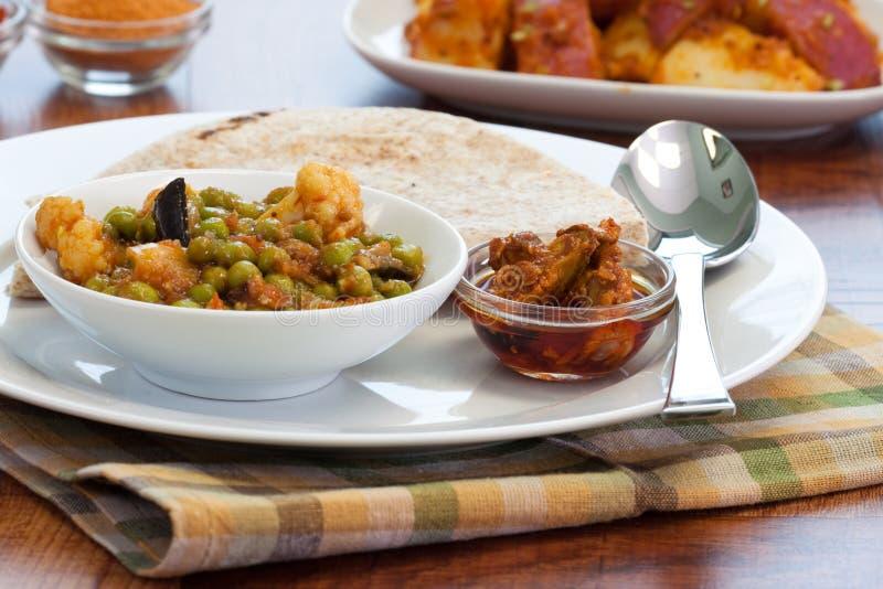 咖喱食物印地安人蔬菜 库存照片