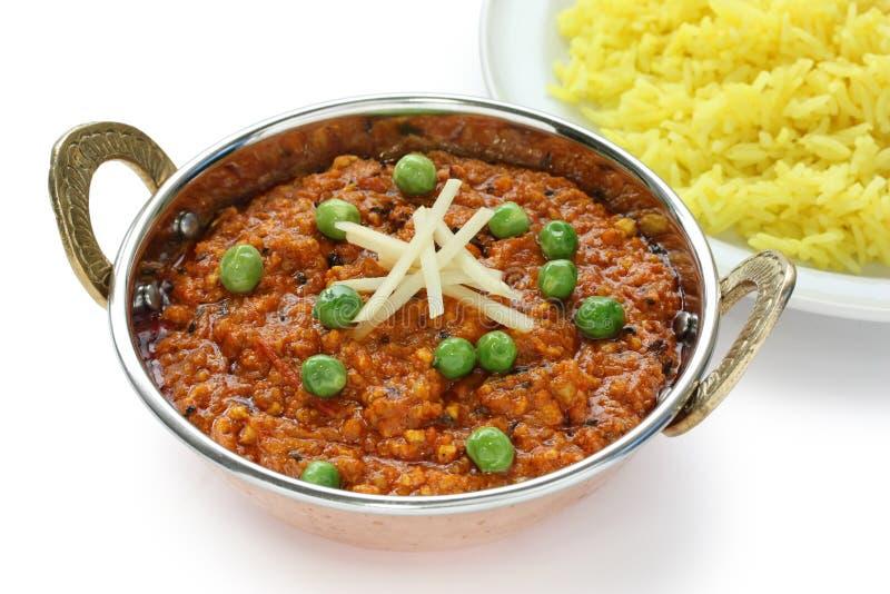 咖喱食物印地安人keema 免版税库存照片