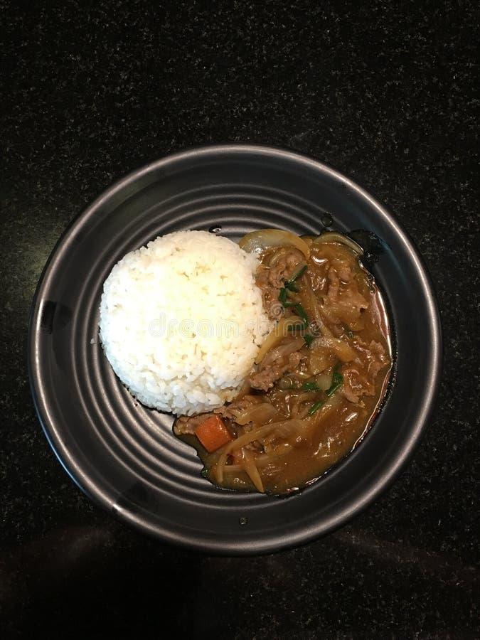 咖喱饭 免版税图库摄影