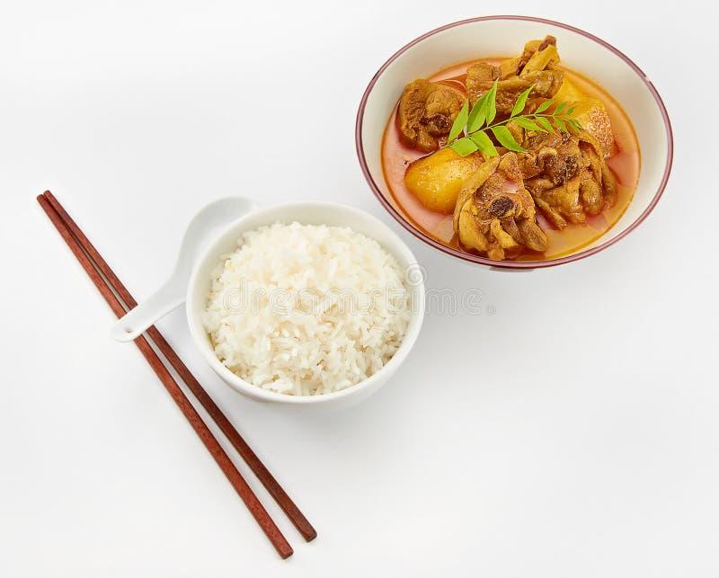 咖喱鸡米 免版税库存图片