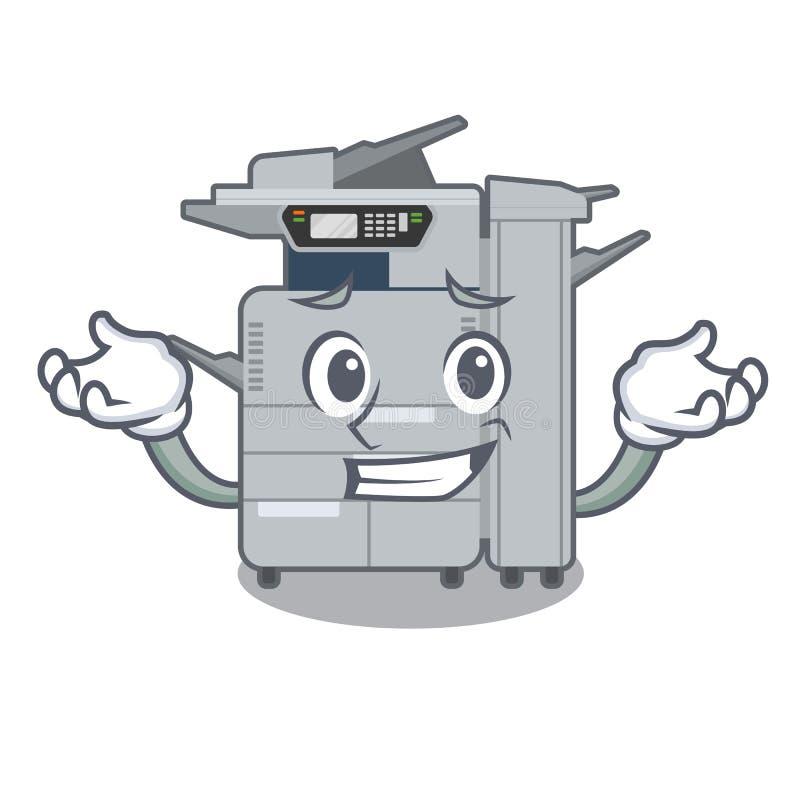 咧嘴在动画片隔绝的影印机机器 库存例证