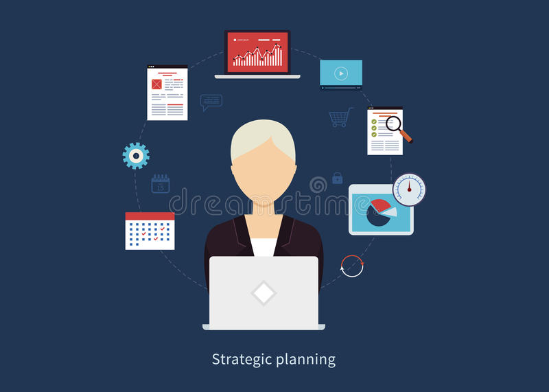 咨询服务的概念,教育,项目 向量例证